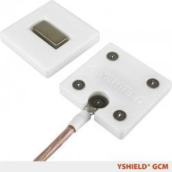 Placa de tierra magnetica GCM para tejidos