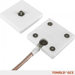 Placa de tierra GCS para tejidos con tornillo